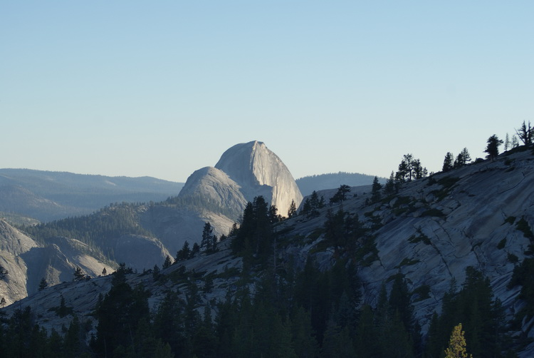 Looking back at Half Dome