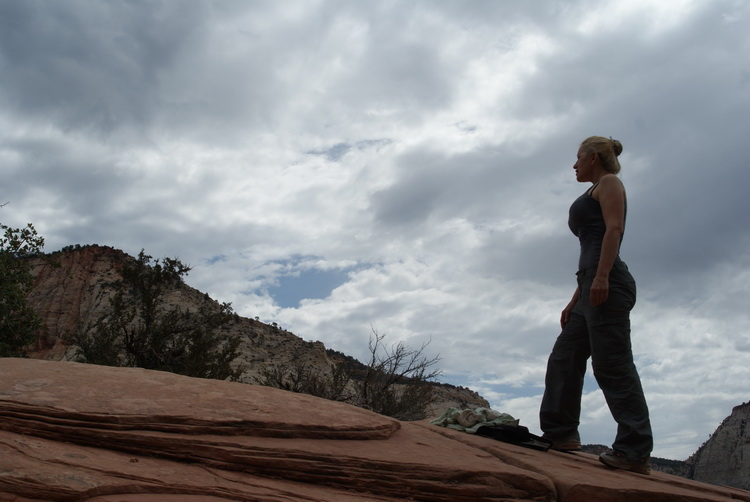 Ann on Angels Landing