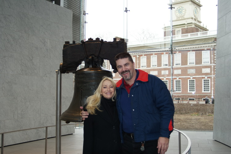 Ann and I at the Liberty Bell