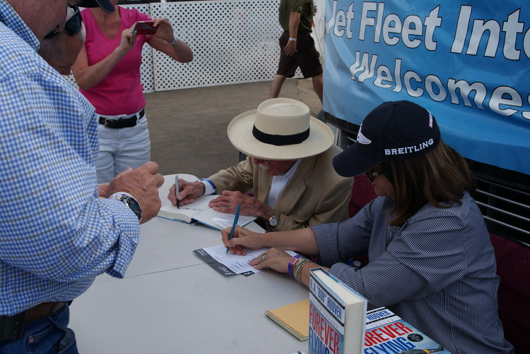 Bob Hoover autographing his book for me!