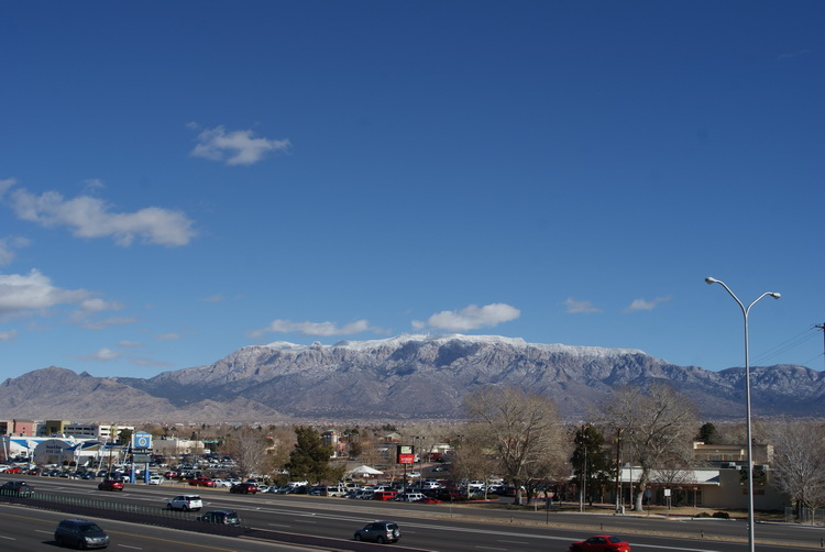 Snow dusted Sandias