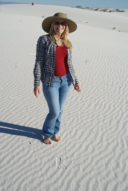 Ann at White Sands
