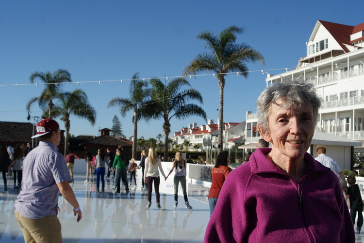 Mom at the Del's skating rink