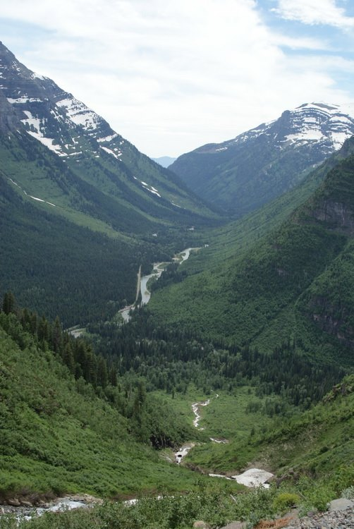 Looking down the valley toward Lake McDonald