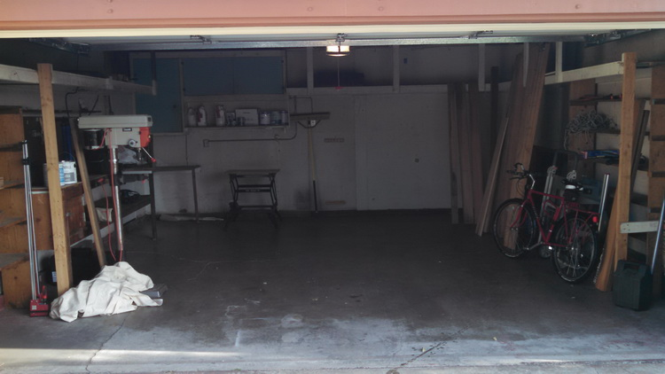 A briefly empty garage