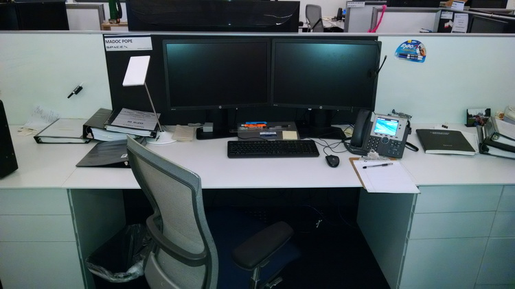 My desk at SpaceX