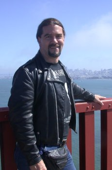 On the Golden Gate during Folsom Weekend '03