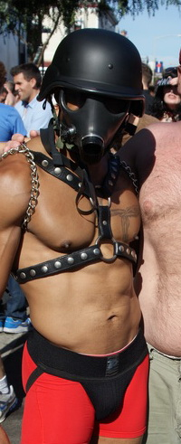 Gas mask hottie