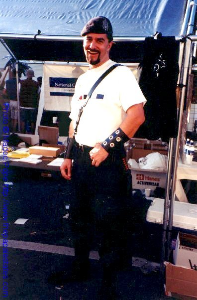 Working the NCSF Booth at Folsom 2000