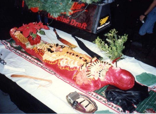 Bet you didn't have a centerpiece like that at your company XMas party!