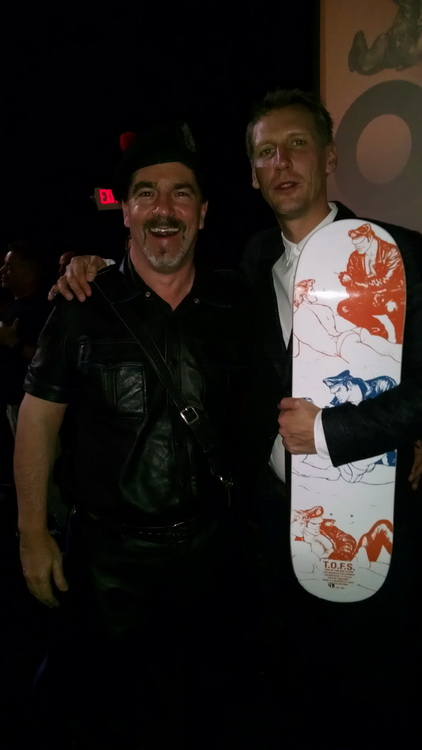 Tom of Finland Movie's LA Premier with its star, Pekka Strang