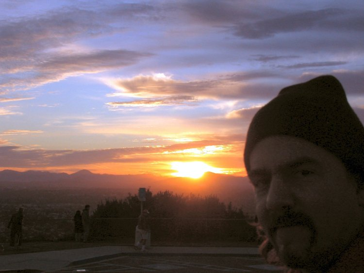 Me At Dawn On Mt. Soledad in 2008