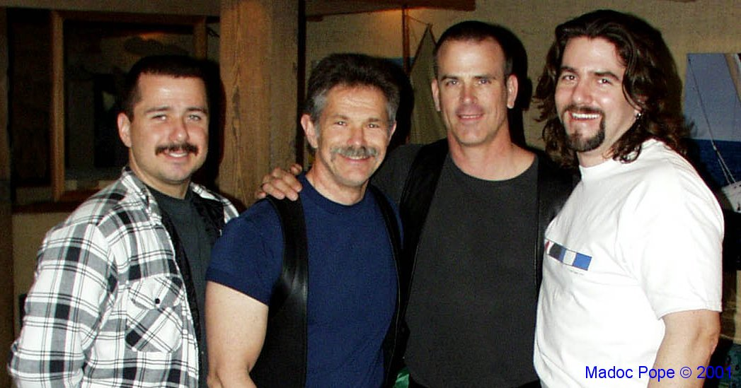 Me and some of my friends. L-R: Jeff, Brian, Tim & me.