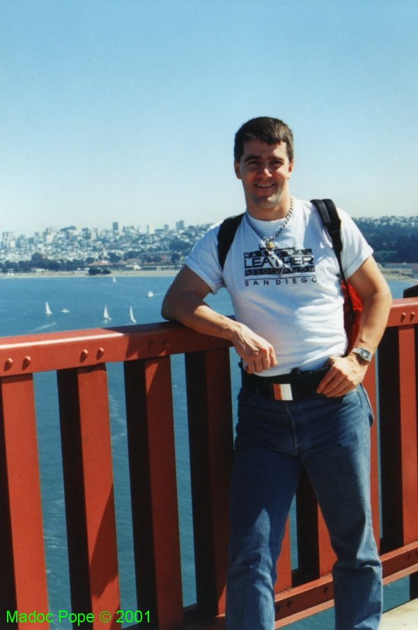 On the Golden Gate during Folsom Weekend '93.