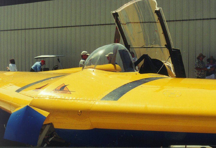 A close-up of the N9M-B at Gillespie Field