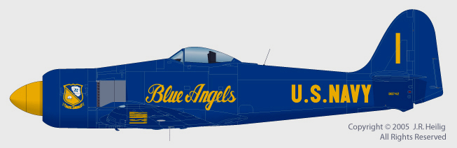 Blue Angels Sea Fury by Jennings Heilig