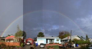 Rainbow outside your front door