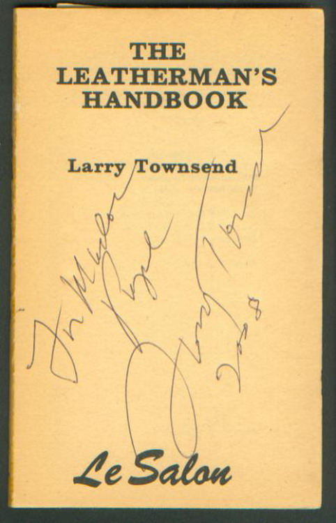 Larry's Signature on my copy of the Handbook
