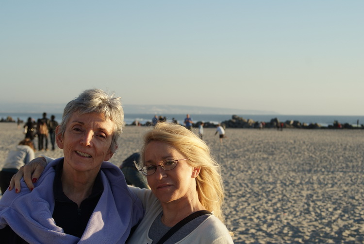Mom and Ann at the beach